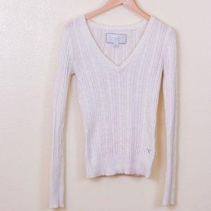 AMERICAN EAGLE AEO Cream Angora Knit Sweater Small